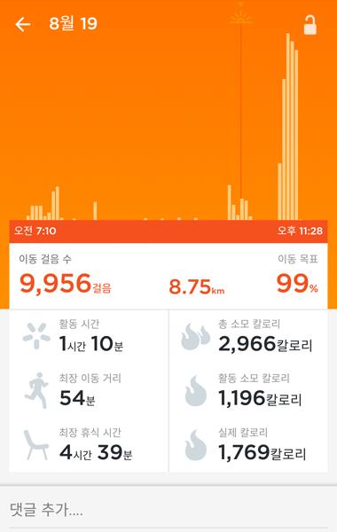 활동 기록